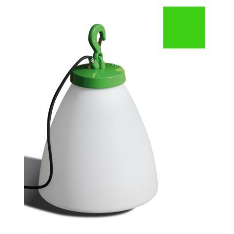 Lampe GRUMO CÔNE bas de Roger Pradier, Vert pomme