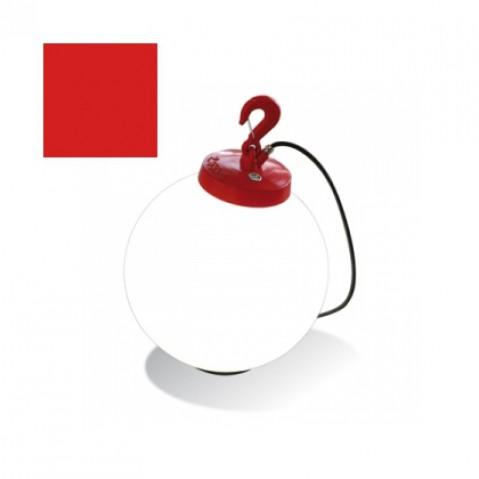 Lampe GRUMO SPHÈRE de Roger Pradier, Rouge
