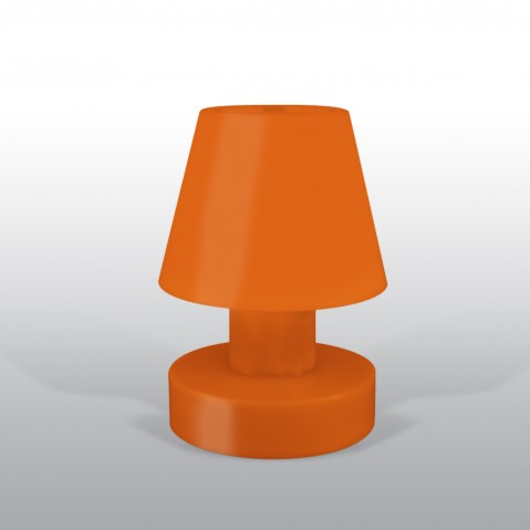 Lampe portable BLOOM ! H.28 cm orange
