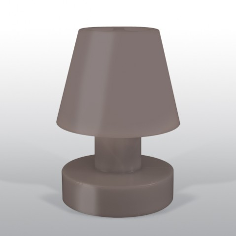 Lampe portable BLOOM ! H.40 cm taupe