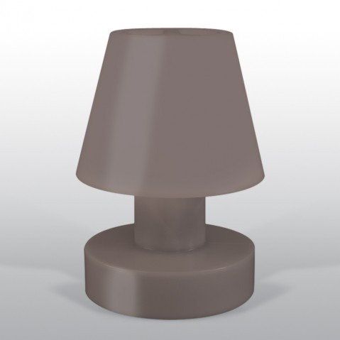 Lampe portable BLOOM ! H.56 cm taupe