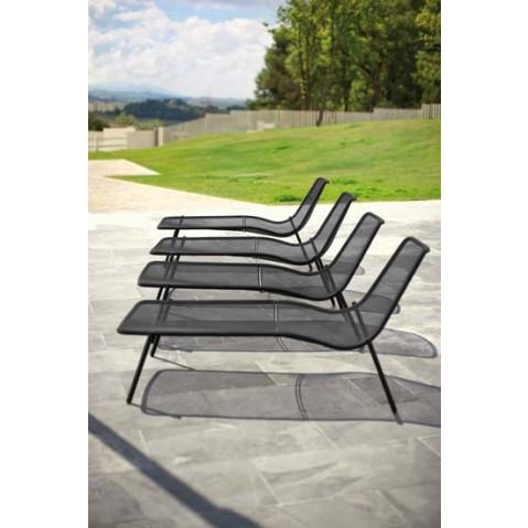 lit de piscine round de emu blanc. Black Bedroom Furniture Sets. Home Design Ideas