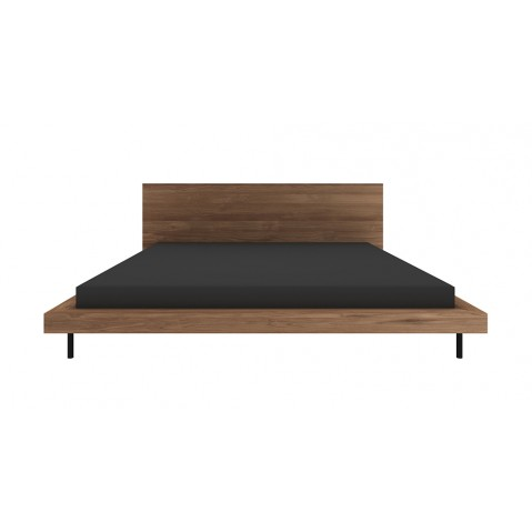 lit en teck hp d 39 ethnicraft matelas 160x200 cm. Black Bedroom Furniture Sets. Home Design Ideas