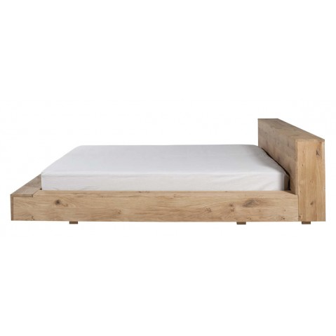 lit oak madra d 39 ethnicraft pour matelas 160 200. Black Bedroom Furniture Sets. Home Design Ideas