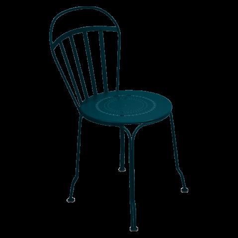 Chaise LOUVRE de Fermob, bleu acapulco