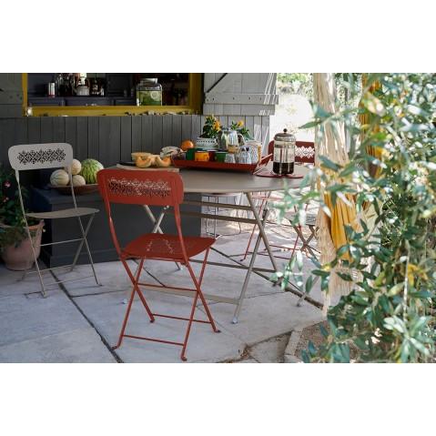 Chaise pliante LORETTE métal de Fermob, Coquelicot