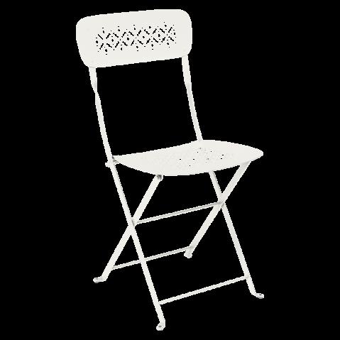 Chaise pliante LORETTE métal de Fermob, Gris argile