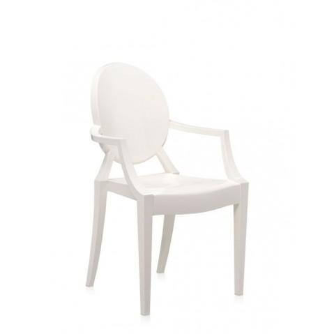 fauteuil louis ghost de kartell blanc brillant. Black Bedroom Furniture Sets. Home Design Ideas