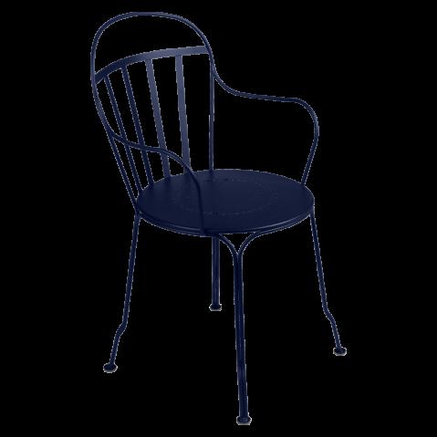Fauteuil LOUVRE de Fermob, Bleu abysse