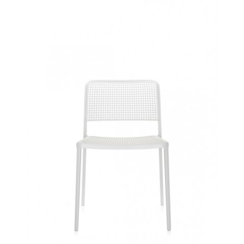 Lot de 2 chaises AUDREY de Kartell, Blanc blanc