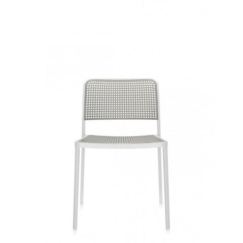 Lot de 2 chaises AUDREY de Kartell, Gris clair