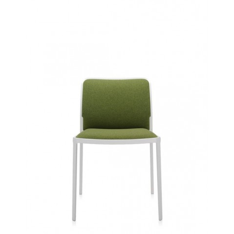 Lot de 2 Chaises AUDREY SOFT de Kartell, Vert Blanc