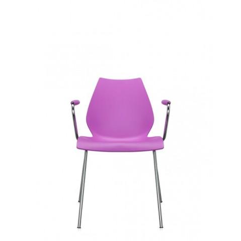 Lot de 2 chaises avec accoudoirs MAUI de Kartell, Fuchsia