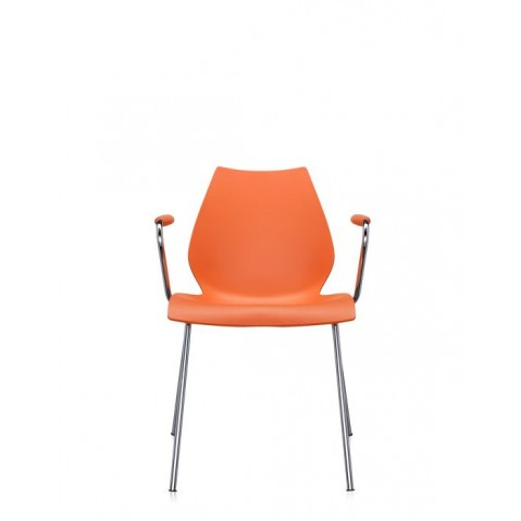 Lot de 2 chaises avec accoudoirs MAUI de Kartell, Orange