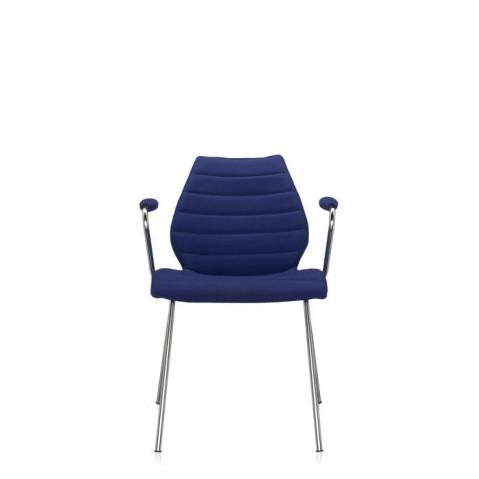Chaise avec accoudoirs MAUI SOFT de Kartell, Bleu