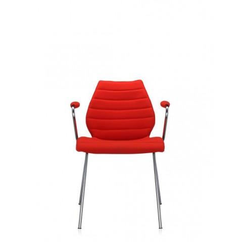 Lot de 2 chaises avec accoudoirs MAUI SOFT de Kartell, Rouge