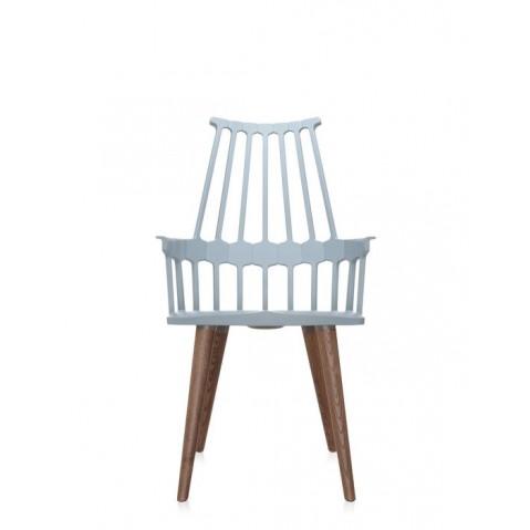 Lot de 2 chaises COMBACK de Kartell, Gris bleu-chêne
