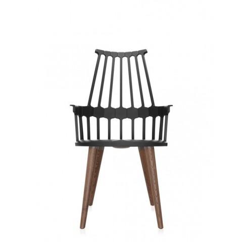 Lot de 2 chaises COMBACK de Kartell , Noir-chêne