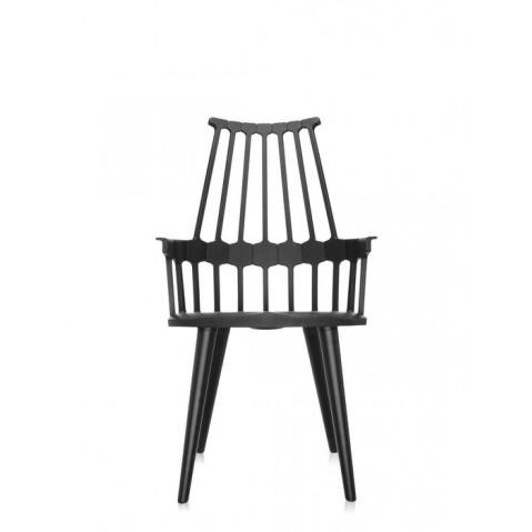 Lot de 2 chaises COMBACK de Kartell , Noir-Noir