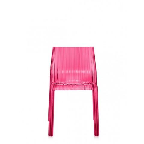 Lot de 2 chaises FRILLY de Kartell, Fuchsia