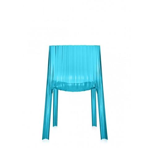 Lot de 2 chaises FRILLY de Kartell, Turquoise