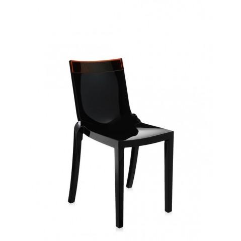 Lot de 2 chaises HI-cut de Kartell, Orange, Structure Noire