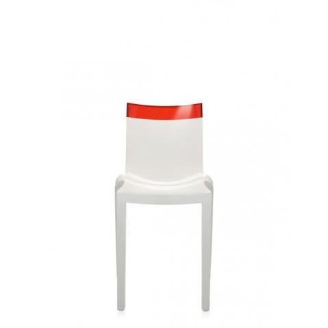 Lot de 2 chaises HI-cut de Kartell, Rouge structure Blanche