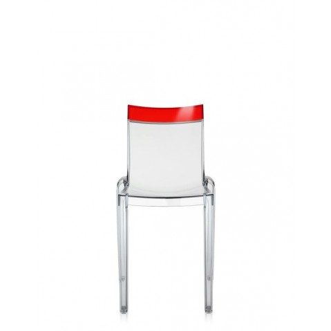 Lot de 2 chaises HI-cut de Kartell, Rouge, structure Cristal