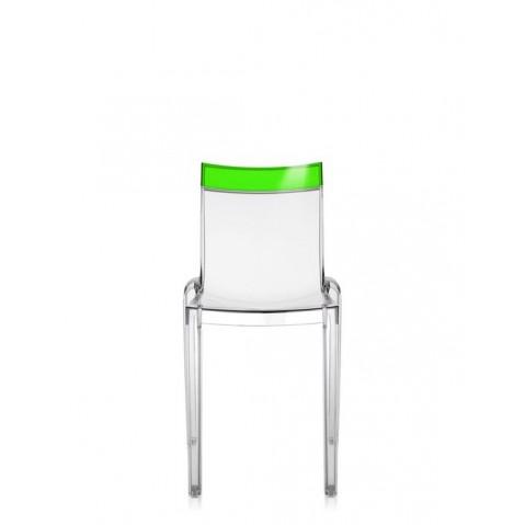 Lot de 2 chaises HI-cut de Kartell, Vert, Structure Cristal