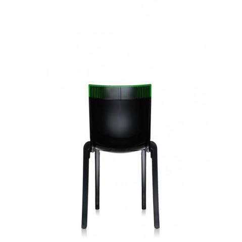 Lot de 2 chaises HI-cut de Kartell, Vert, Structure Noire