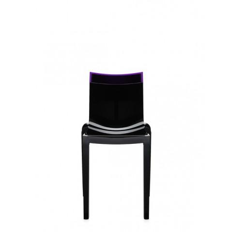Lot de 2 chaises HI-cut de Kartell, Violet, Structure Noire