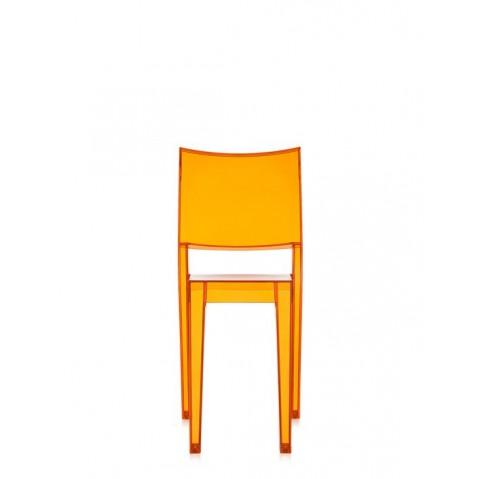 Lot de 2 chaises LA MARIE de Kartell, Orange clair