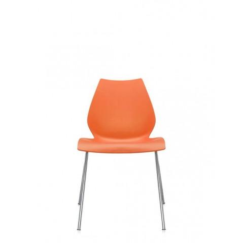 Lot de 2 chaises MAUI de Kartell, Orange