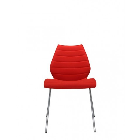 Lot de 2 chaises Maui Soft de Kartell, Rouge