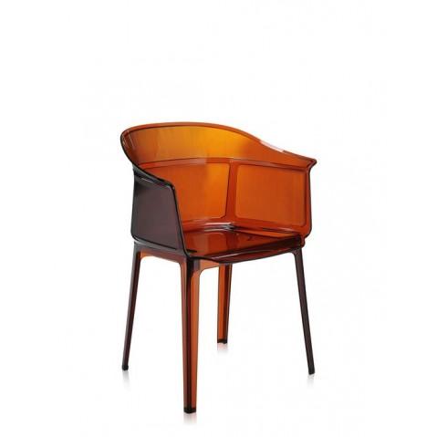 Lot de 2 chaises PAPYRUS de Kartell, Ambre