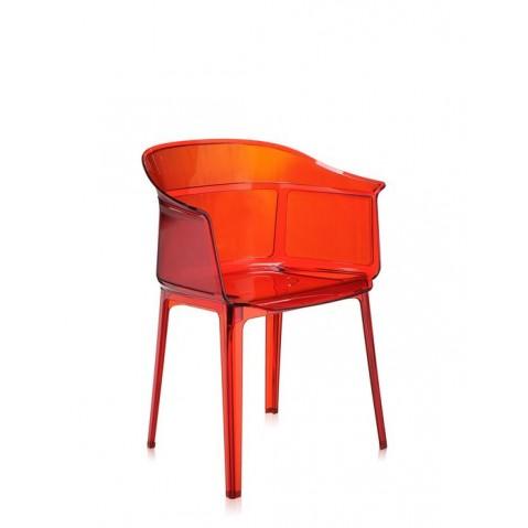 Lot de 2 chaises PAPYRUS de Kartell, Rouge orangé