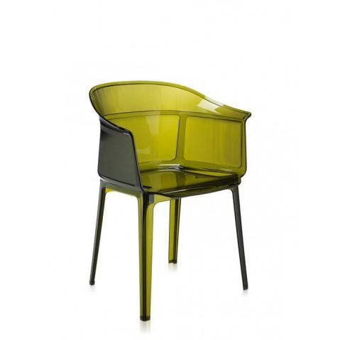 Chaise PAPYRUS de Kartell, Vert olive
