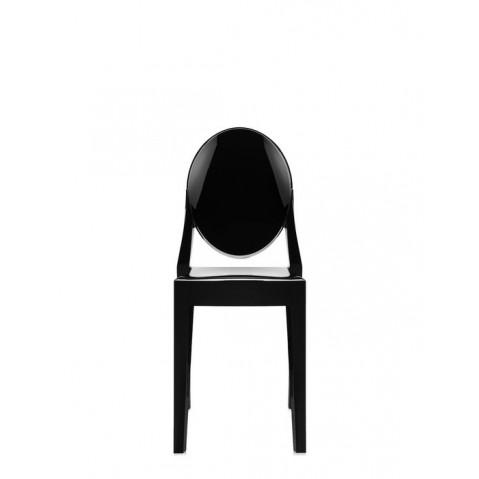 Lot de 2 chaises VICTORIA GHOST de Kartell, Noir