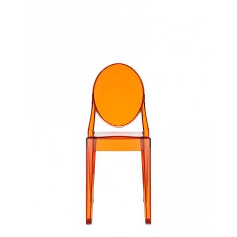 Lot de 2 chaises VICTORIA GHOST de Kartell, Orange transparent