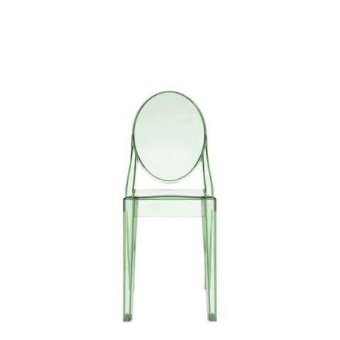 Lot de 2 chaises VICTORIA GHOST de Kartell, Vert transparent