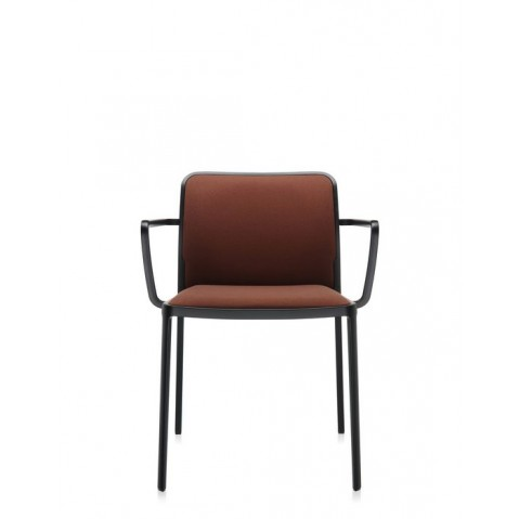 Lot de 2 Fauteuils AUDREY SOFT de Kartell, Marron-Noir
