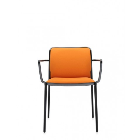 Lot de 2 Fauteuils AUDREY SOFT de Kartell, Orange-Noir