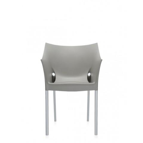 Lot de 2 fauteuils DR.NO de Kartell, Gris Chaud Moyen