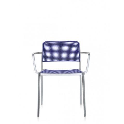 Lots de 2 chaises avec accoudoirs AUDREY de Kartell, Bleu