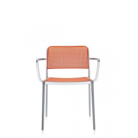 Lots de 2 chaises avec accoudoirs AUDREY de Kartell, Orange