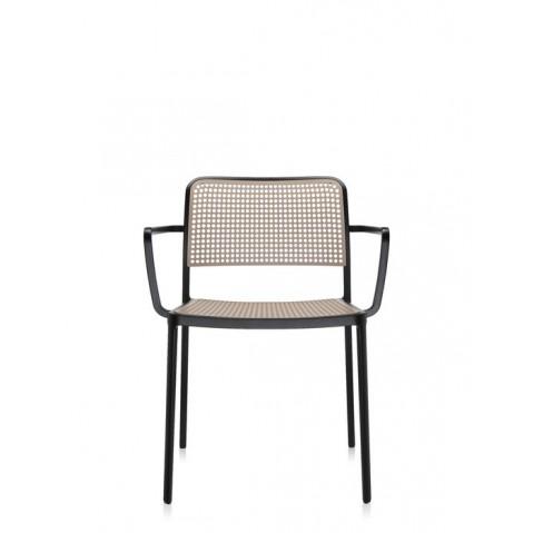Lots de 2 chaises avec accoudoirs AUDREY de Kartell, Sable-Noir