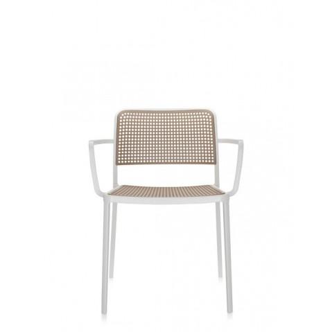 Lots de 2 chaises avec accoudoirs AUDREY de Kartell, Sable