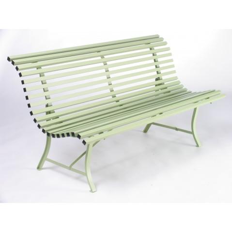 banc de la collection louisiane de fermob de longueur 150 cm couleur vert tilleul. Black Bedroom Furniture Sets. Home Design Ideas