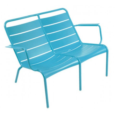 Lounger Duo LUXEMBOURG de Fermob bleu turquoise
