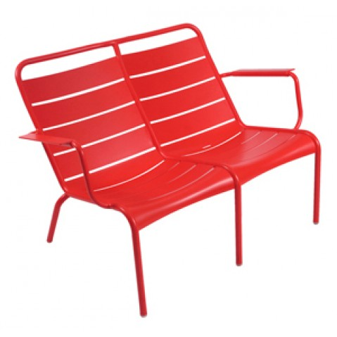 Lounger Duo LUXEMBOURG Fermob coquelicot